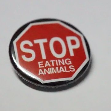 "Button ""Stop eating Animals"""